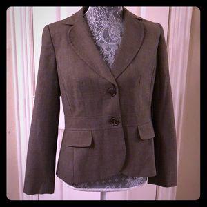 Ann Taylor Blazer brown Grey Suit Jacket
